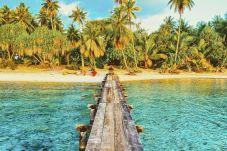 Pontone della villa sull'isola privata di Rangiroa